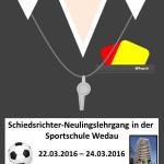 Werde Schiedsrichter Plakat 2016